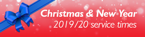 Christmas and New Year timetable 2019
